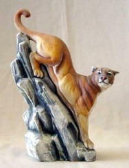 Cougar on rock bisque ready to paint