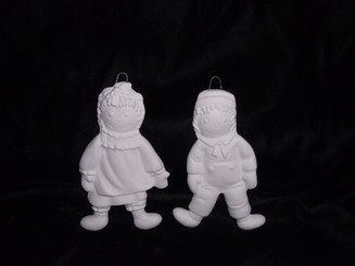 "Raggedy Ann & Andy Ornaments, 4"" Tall"