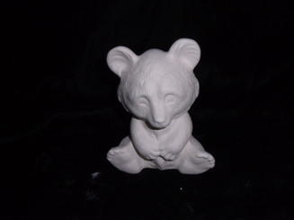 Ceramic bisque panda bear  ready to paint appx 5x4