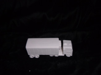 Ceramic bisque  semi truck and trailer ready to paint  4x2""