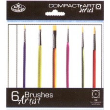 Royal Langnickel ca2 6 artist brushes short handles