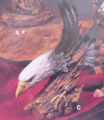 Kimple wood carved eagle ready to paint bisque