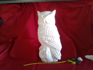 Large Byron owl ready to paint