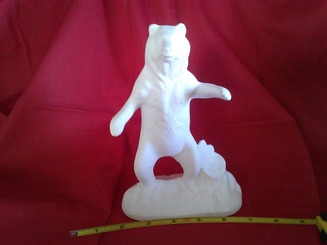 standing bear ready to paint ceramic bisque