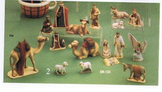 "Duncan nativity set 3-5"" 17 piece set ceramic bisque ready to paint"