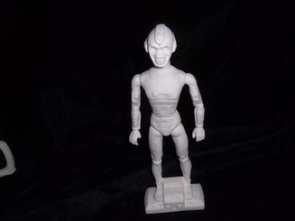 "Robot Figurine 10"" tall ceramic bisque, ready to paint"