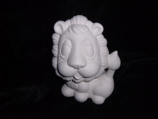 "Lion 7x6"" ceramic bisque, ready to paint ready to ship"