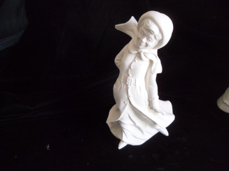 "Lady Figurine in the Wind, 8"" Tall"