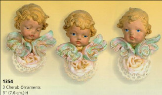 "Set of 3 Cherub Ornaments 3"" Scioto"