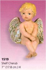 Medium Shelf Cherub 7""