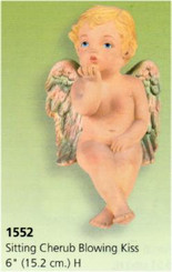 Sitting Cherub Blowing Kiss 6""