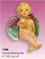 Cherub Blowing Kiss 4""