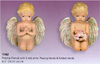 Praying Cherub, 2 Sets of Arms Set 6.5