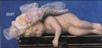 "Sleeping Shelf Cherub Left 9""L**"