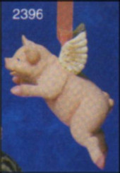 "Flying Pig Ornaments 5.34""L"