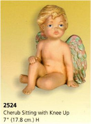 Med. Cherub Sitting with Knee Up 7""