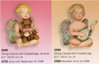 Sitting Cherub with Crossed Legs 6.5""