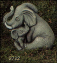 "Small Nurturing Elephants 4""T"