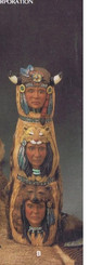 "Small Totem Pole - Ready to Paint Ceramic Bisque- 15"" -  Kimple 2281"