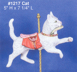 Alberta 1217 cat carousel 5x7 ceramic bisque ready to paint