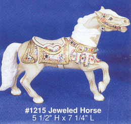 ALBERTA 1215 CAROUSEL JEWELED HORSE