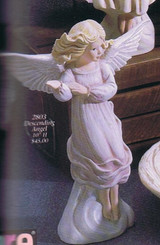 "Gare 2803 ascending angel 10"" ceramic bisque"