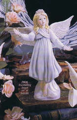 "Gare 2806 ascending angel 10"" ceramic bisque"