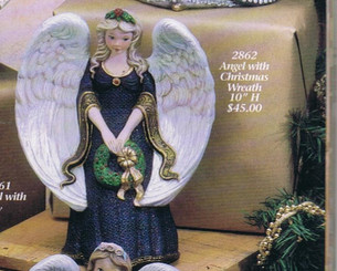 Angel with Wreath Ready to Paint Gare 2862