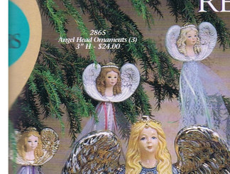 "Gare 2865  angel head ornaments set of 3 3""  ceramic  bisque ready to paint"