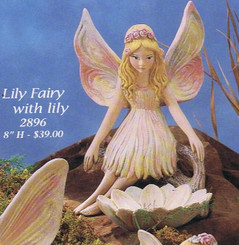 "Gare 2896 Lily fairy 10"" high   ceramic  bisque ready to paint"
