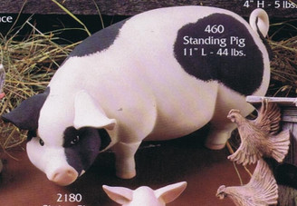 "Gare 460 large 11"" sitting pig ceramic  bisque ready to paint"