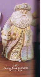 """Gare 2496 Mountain Santa 10""""h  ceramic  bisque ready to paint"""