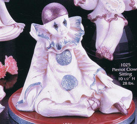"Gare 1025 pierrot clown 10"" ceramic  bisque ready to paint"