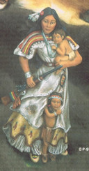 """Provincial 973 Mothers courage 9"""" tall   ceramic bisque ready to paint"""