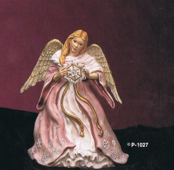 "Provincial 1027 winter angel 9"" high ceramic bisque ready to paint"