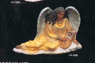 "Provincial 1035 Indian angel 9"" high ceramic bisque ready to paint"