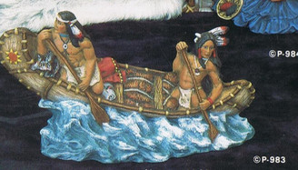 Indians Canoeing - Provincial P-983