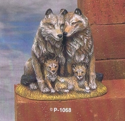 "Provincial  1068 Wolf family 5.5""  ceramic bisque ready to paint"