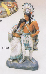 Provincial  501 Indian wedding couple  ceramic bisque ready to paint