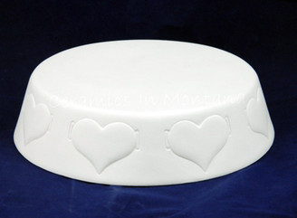 Donas Round Base with Hearts D855