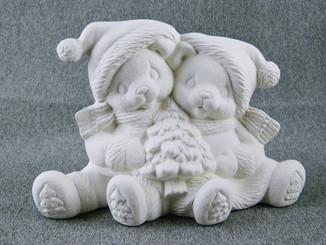 Cuddle Claus Christmas Cuddle Bears - Clay Magic Mold