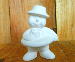 Swimming / Tubing Snowman Christmas Ornament - Clay Magic