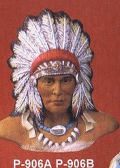 Small Indian Chief Bust Provincial P-906