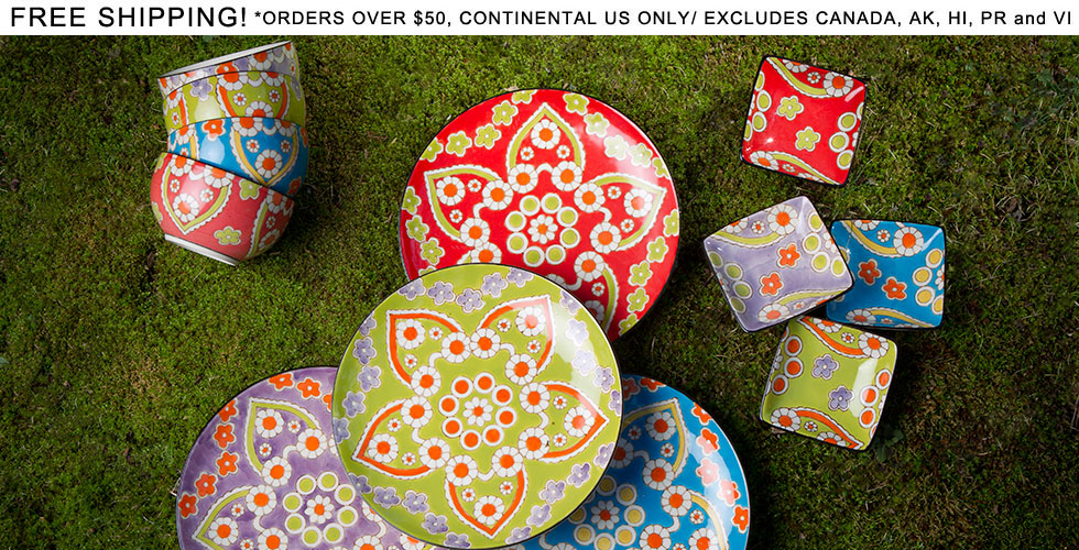 Ceramic lotus design dinnerware