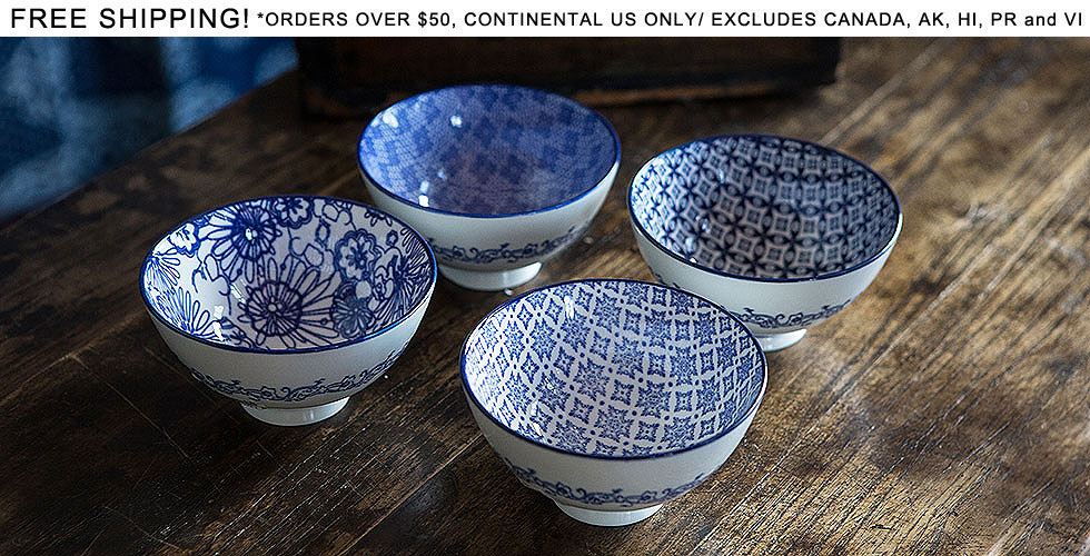 Blue & White Ceramic Bowls