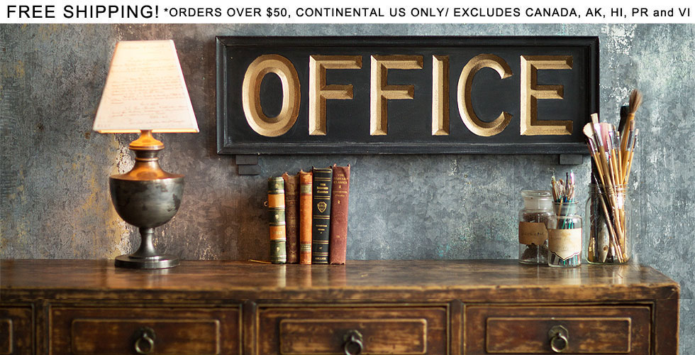Office Wooden Sign