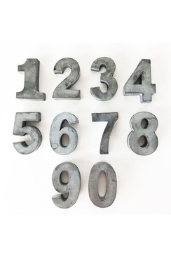 Set of Zinc Numbers 0-9