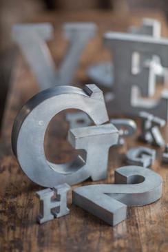 Metal Zinc Alphabet Letter