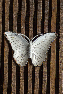Butterfly Jewelry Dish in Antique White