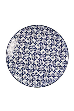 Blue and White Round Plate - OC-RDPLT-S4A